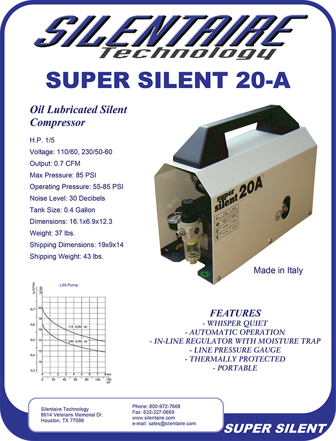 Silentaire Compressor 20A